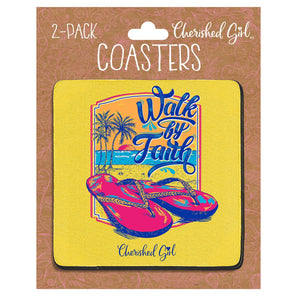 Cherished Girl Christian Drink Coasters Walk by Faith
