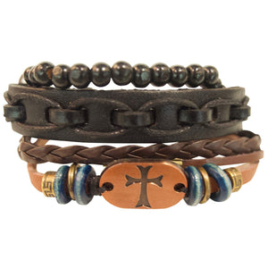 Faith Gear Christian Bracelet Copper Cross