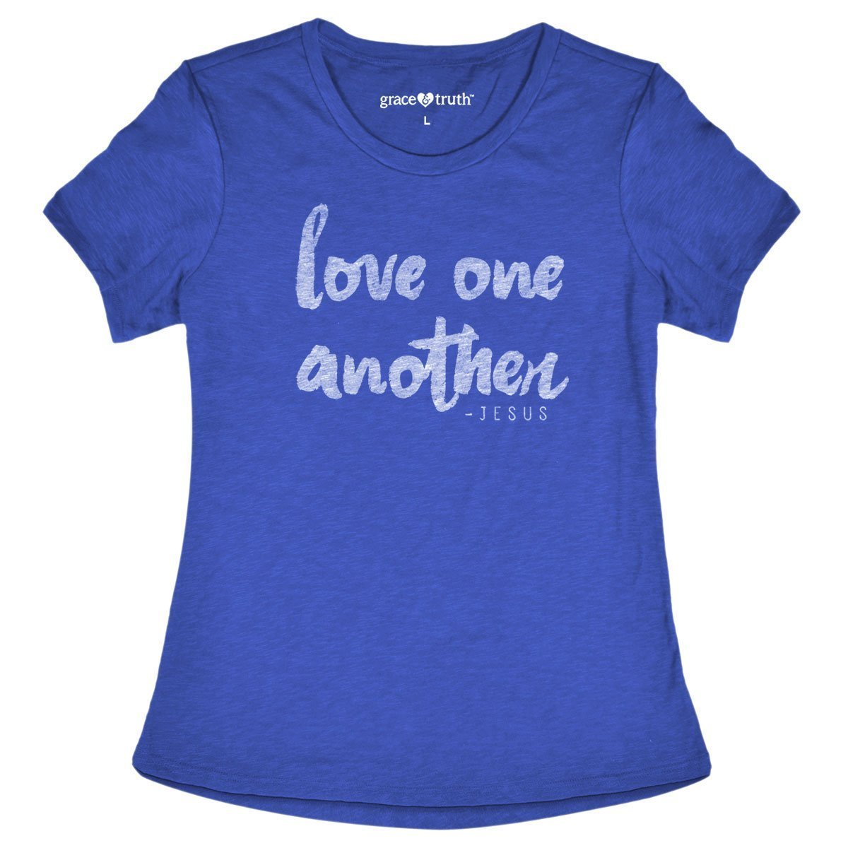 grace & truth® - Women's Adult T-Shirt - Love (Blue)
