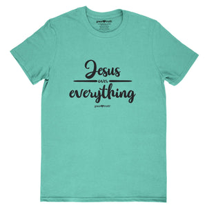 grace & truth Christian T-Shirt Jesus Over Everything