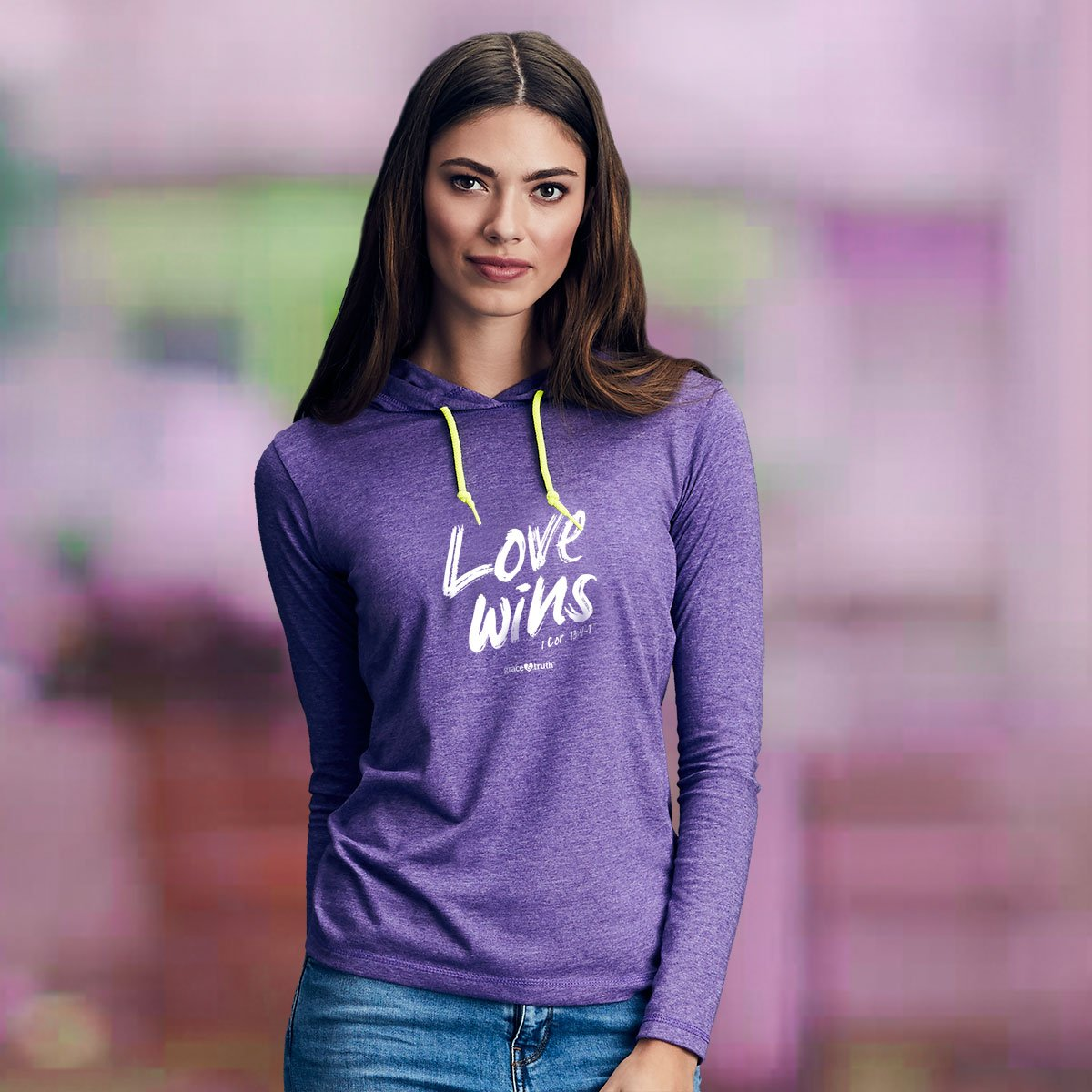grace & truth® Adult Hooded T-Shirt - Love Wins