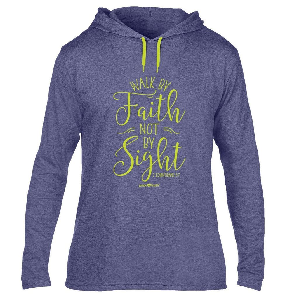 grace & truth Womens Hooded T-Shirt Walk By Faith