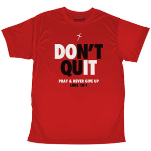 Kerusso ACTIVE® Mens T-Shirt Don't Quit Never Give Up Red