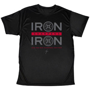 Marked Men for Christ - Adult Active Performance T - Iron Sharpens Iron