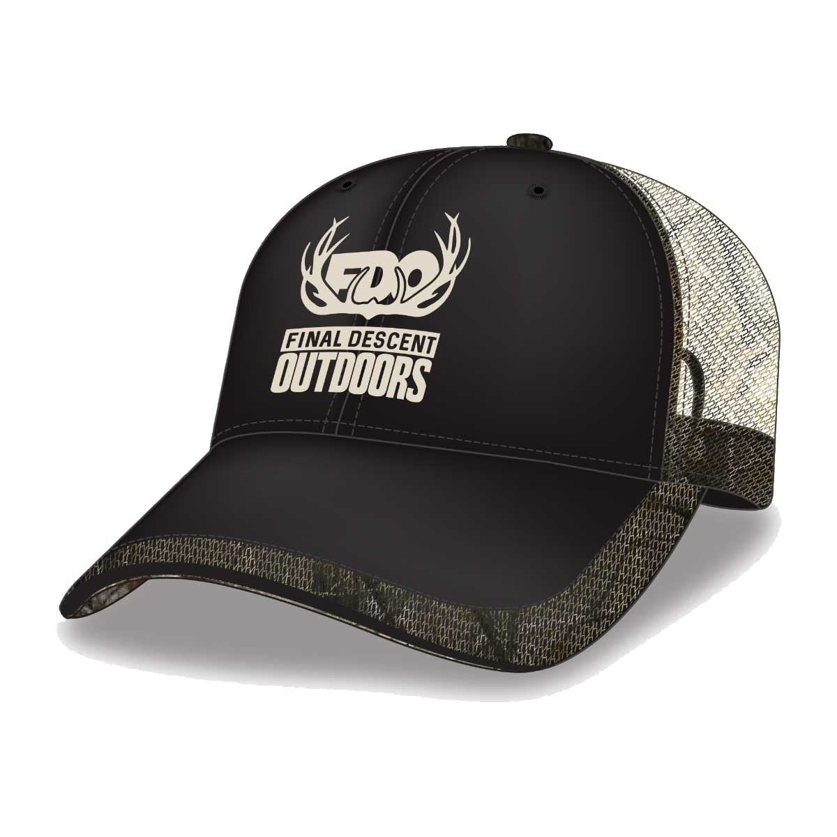 Final Descent Black Cotton Twill & Realtree AP Camo Cap
