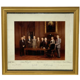 VERY RARE HAND SIGNED GROUP PHOTO OF SUPREME COURT JUSTICES WARREN BURGER COURT