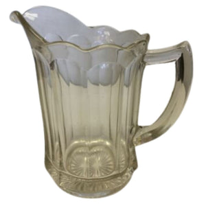 Antique Depression Era Glass Pitcher HEAVY TM