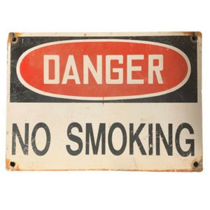 "Original Vintage Danger No Smoking Metal Gas Station Pump Sign 10"" X 14"""