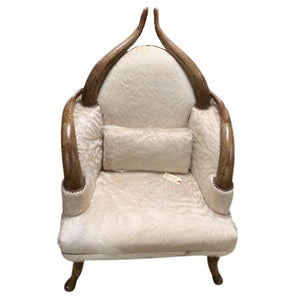 Horn and Sheep Hair Chair