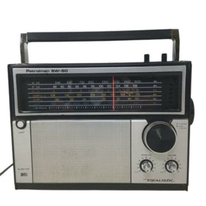 REALISTIC PATROLMAN SW-60 6 BAND RADIO SHACK VINTAGE SHORTWAVE TESTED 12-779A EX