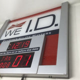 Budweiser WE ID Digital SIGN Light Clock Born Before Date