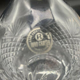 Genuine Lead Crystal Decanter with Glass Stopper 11""