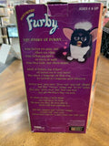 1998 VTG Furby Tiger Electronics Sleepy Blue Eyes Black/White SKUNK TUXEDO-WORKS