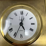 Vintage Dunhill Mahogany and Brass Cased Marine Swiss Quartz Clock - Works