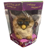 Furby 1998 Vintage Tiger Brown With Blue Eyes & Original Box