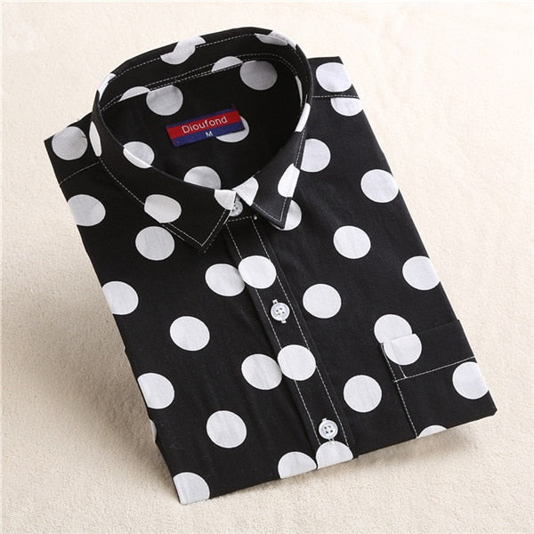 Polka Dot Women Formal Shirt
