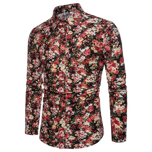 Ethnic Flowers Printed Casual Shirt