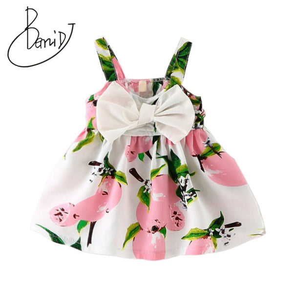 Infant Lemon Princess Bow Dress