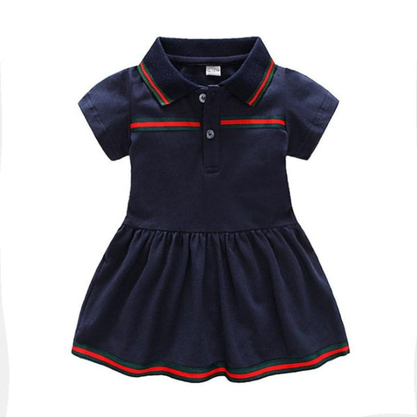 Cotton Solid Dress Sweet Baby Girl
