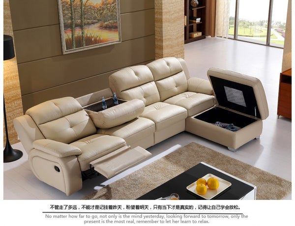 Genuine Soft Leather Living Room Sofa