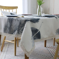 Feather Print Table Cloth