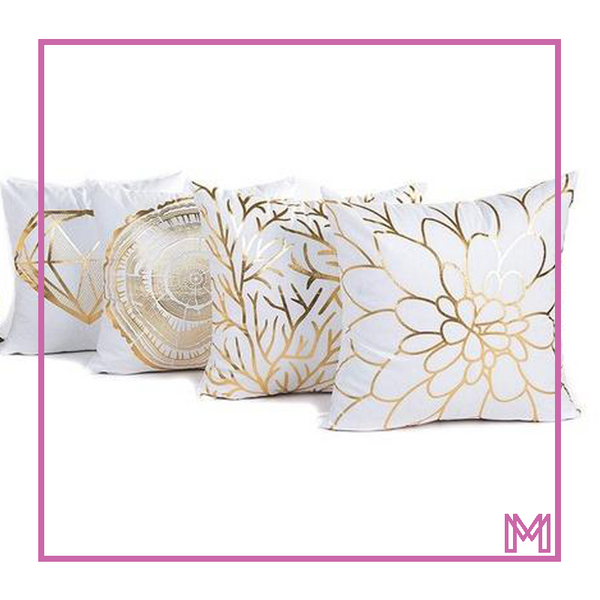Square Gold Foil Printing Pillow Case