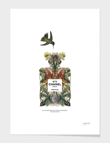 Tropical CHANEL NO. 5 Print