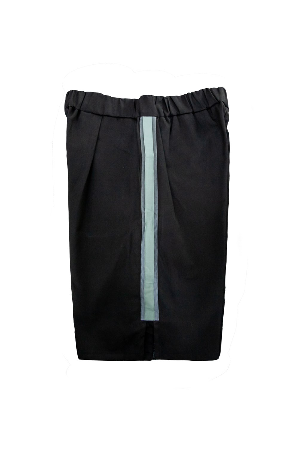 Axis Black Shorts with Orbit-Green Reflective Panel