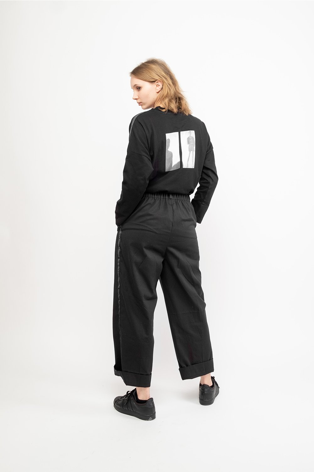 Human Connection Black Pants - BISKIT