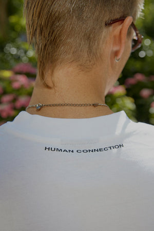 Human Connection Half T-Shirt - White - BISKIT