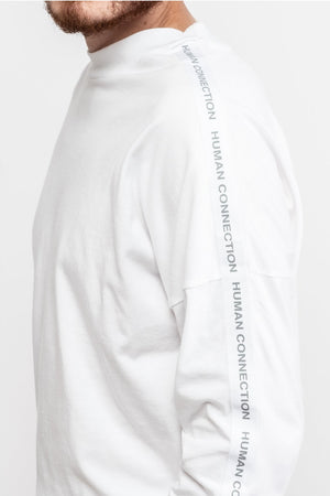 Human Connection 3/4 Sleeve T-Shirt - White - BISKIT