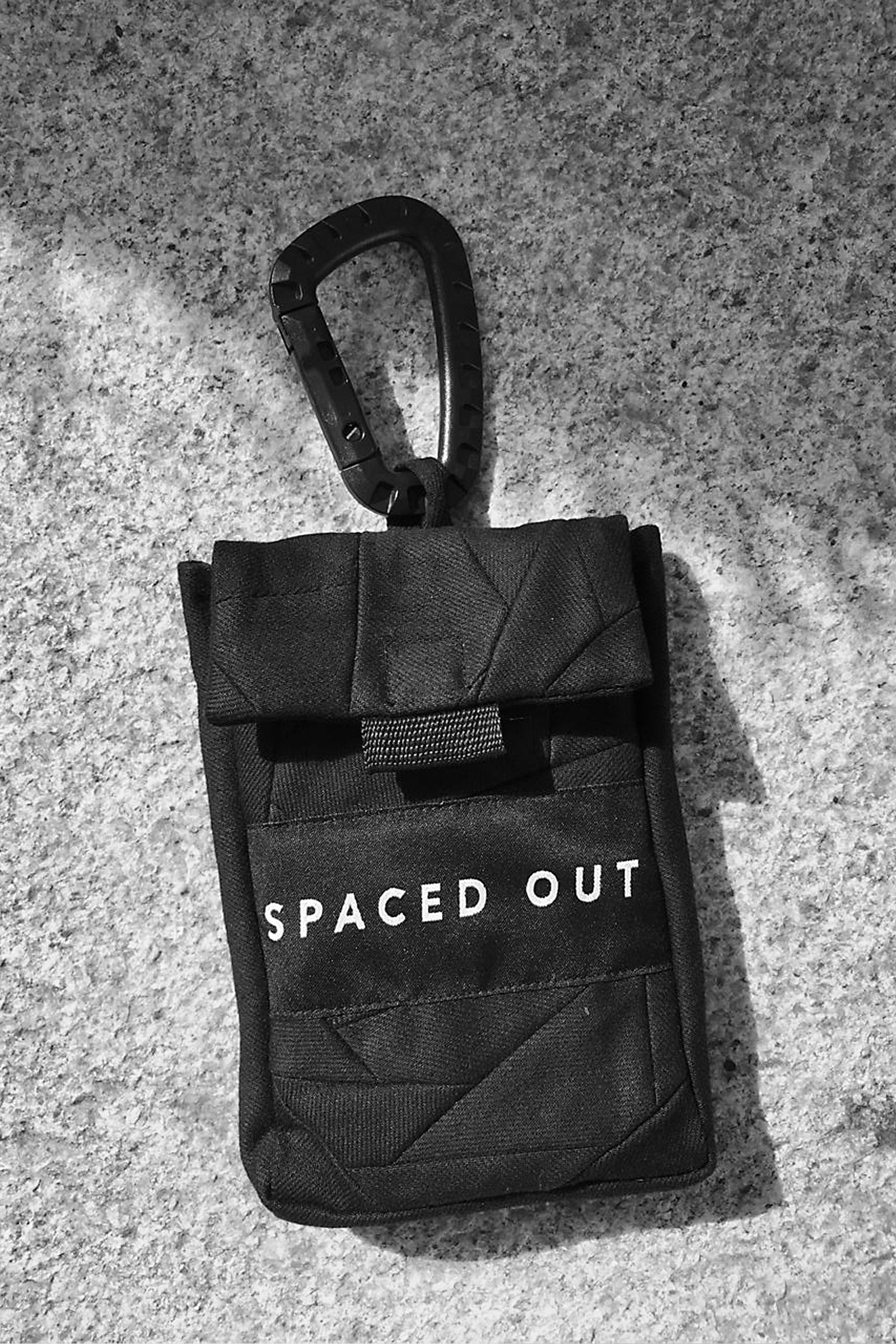 Black Recycled Denim Belt Bag With 'Spaced Out' Logo