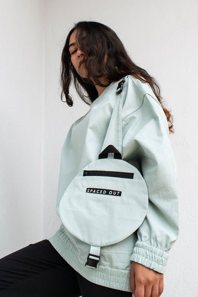 'Orbit-Green' Top with Detachable Circular Bag