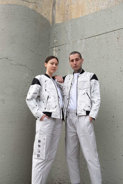 Space Debris Bomber Jacket