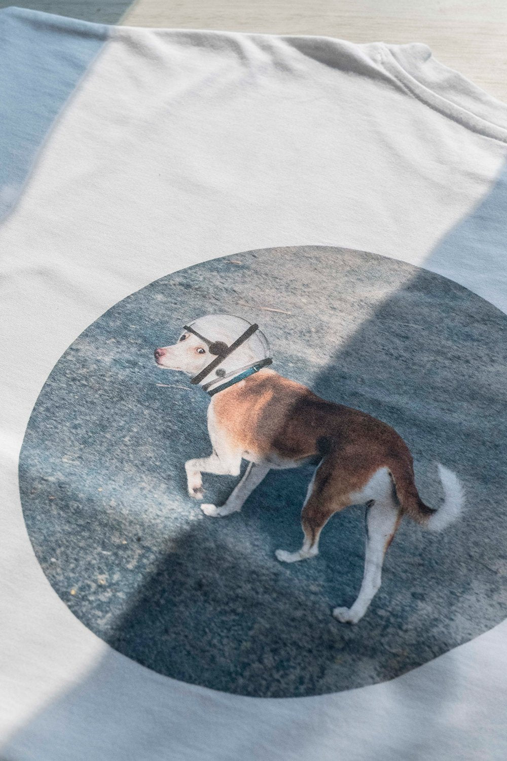 Space Dog Drop Shoulder T-Shirt - Classic White