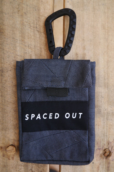 Blue Recycled Denim Belt Bag With 'Spaced Out' Logo