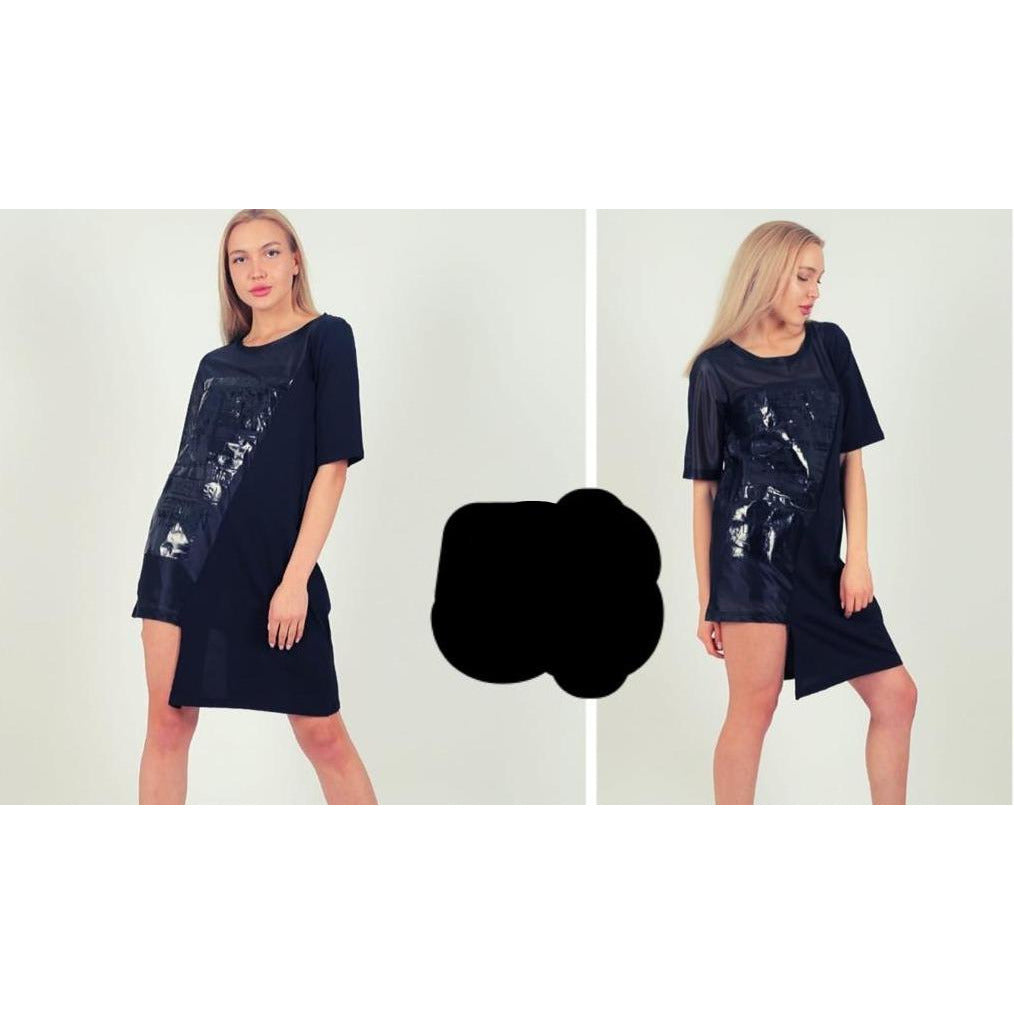 ON756-03 Black Silver Tunic Shirt