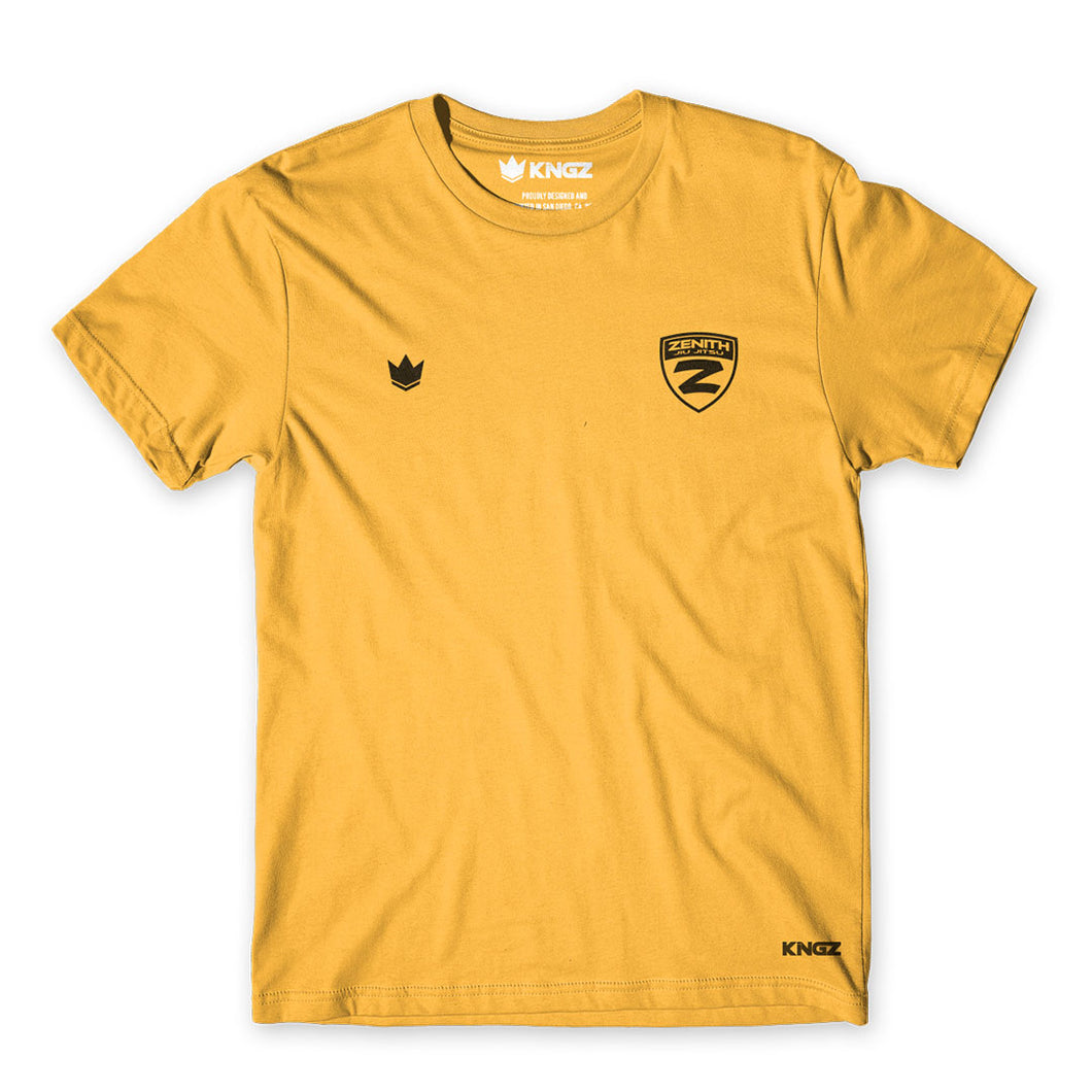 Zenith Basic Tee - Kids - Yellow - Front View