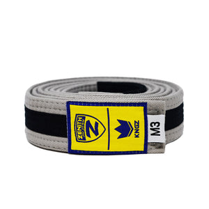 Zenith Kids Grey and Black Jiu Jitsu Belt