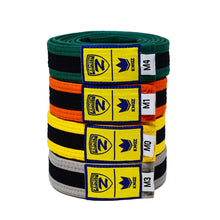 Load image into Gallery viewer, Zenith Kids Color and Black Jiu Jitsu Belt