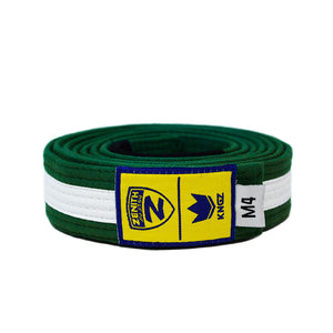 Zenith Kids Green and White Jiu Jitsu Belt