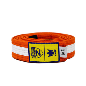 Zenith Kids Orange and White Jiu Jitsu Belt
