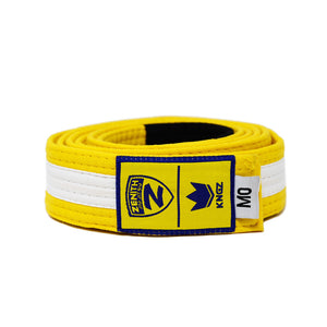 Zenith Kids Yellow and White Jiu Jitsu Belt