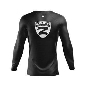 Zenith Ranked Rash Guard Black L/S - Back