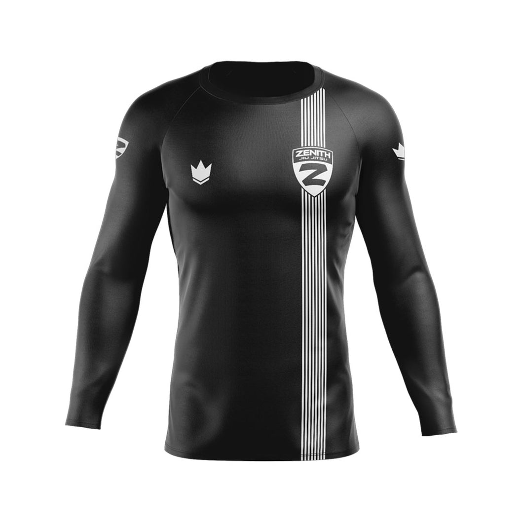 Zenith Ranked Rash Guard Black L/S - Front