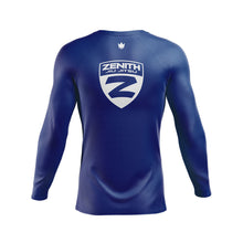 Load image into Gallery viewer, Zenith Ranked Rash Guard Blue L/S - Back