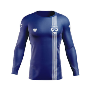 Zenith Ranked Rash Guard Blue L/S - Front