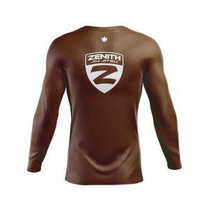 Zenith Ranked Rash Guard Brown L/S - Back
