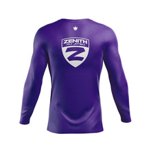 Load image into Gallery viewer, Zenith Ranked Rash Guard Purple L/S - Back