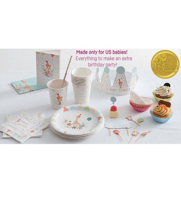 Birthday Set party Kit for 12 People Sophie la Girafe